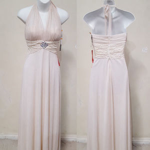NWOT Hand Embellished Ivory Gown by an Artisan